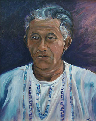 Painting - Portrait Of Roberto by Nancy Griswold
