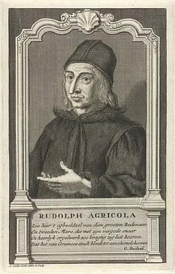 Adolf Drawing - Portrait Of Rudolf Agricola, Adolf Van Der Laan by Adolf Van Der Laan