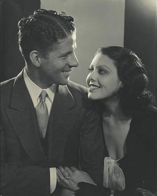 Fay Photograph - Portrait Of Rudy Vallee And Fay Webb by Edward Steichen