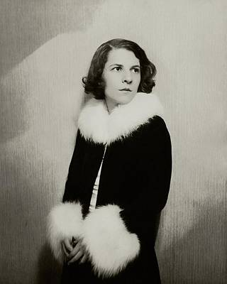 Portrait Of Ruth Gordon Art Print by Florence Vandamm