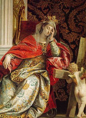 The Wooden Cross Painting - Portrait Of Saint Helena by Veronese