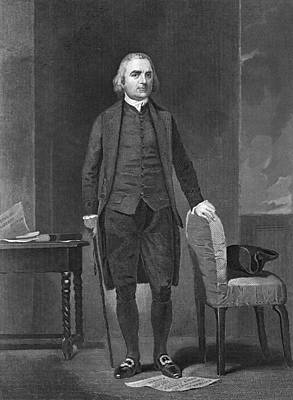 Painted Image Photograph - Portrait Of Sam Adams by Underwood Archives