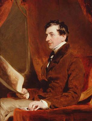 Portrait Of Samuel Woodburn, C.1820 Art Print by Sir Thomas Lawrence
