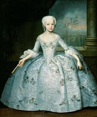 Portrait Of Sarah Eleonor Fermor 1740-1824 1749-50 Oil On Canvas Art Print