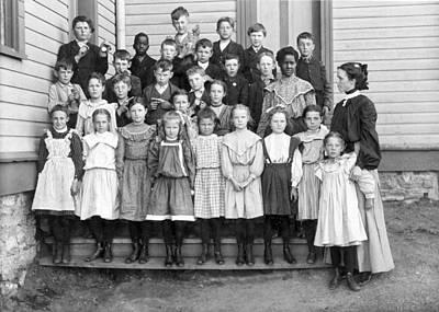 Schoolhouses Photograph - Portrait Of School Children by Underwood Archives