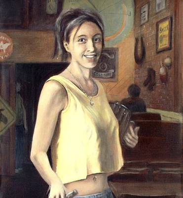 Painting - Portrait Of Shannon by G Linsenmayer