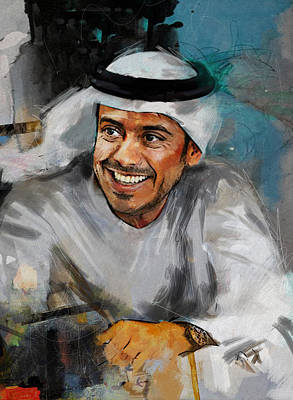 Painting - Portrait Of Sheikh Sultan Bin Tahnoon Al Nahyan by Maryam Mughal