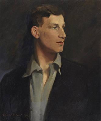 Novelist Painting - Portrait Of Siegfried Sassoon 1917 by Glyn Warren Philpot