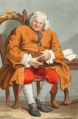 Satire Wall Art - Drawing - Portrait Of Simon Fraser, Lord Lovat by William Hogarth