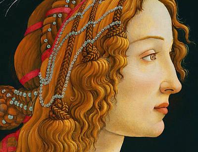 Simonetta Vespucci Painting - Portrait Of Simonetta Vespucci  by Celestial Images