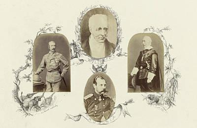 Portrait Of Sir Garnet Wolsleley In Uniform Surrounded Art Print by Artokoloro