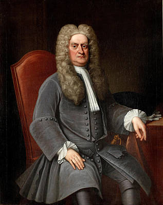 Newton Painting - Portrait Of Sir Isaac Newton by English School