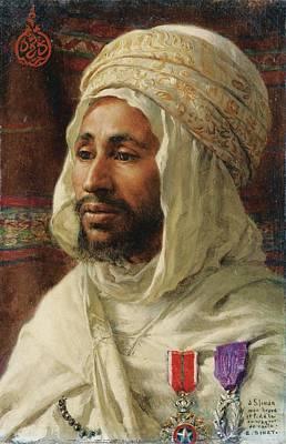 Dua Painting - Portrait Of Sliman Ben Ibrahim by Celestial Images