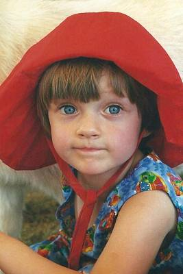 Portrait Of Sophia In A Red Hat Art Print