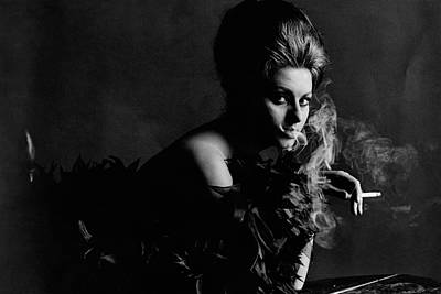 Studio Shot Photograph - Portrait Of Sophia Loren by Bert Stern