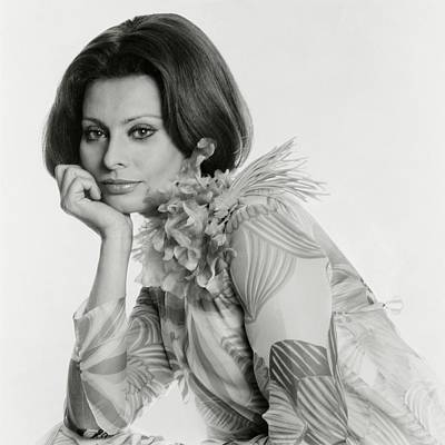Sophia Photograph - Portrait Of Sophia Loren by Henry Clarke