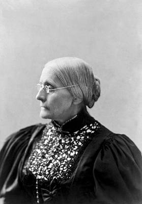 Gray Hair Photograph - Portrait Of Susan B. Anthony by L. Condon