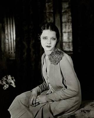 Pom Pom Photograph - Portrait Of Sylvia Sidney by Florence Vandamm