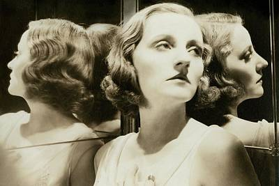 Woman Head Photograph - Portrait Of Tallulah Bankhead by Cecil Beaton