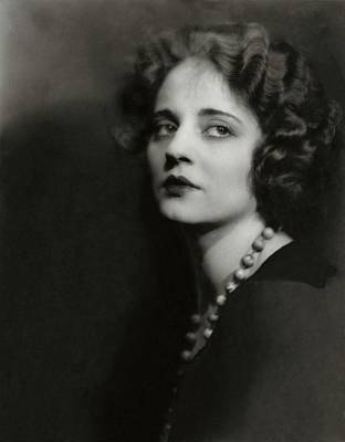 Black Curly Hair Photograph - Portrait Of Tallulah Bankhead by Maurice Goldberg