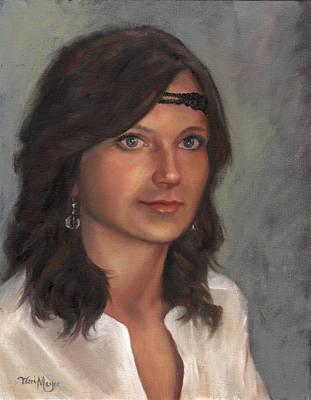 Portrait Of Taylor I Art Print by Terri  Meyer