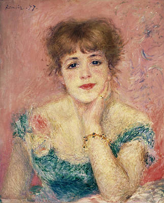 Impressionist Photograph - Portrait Of The Actress Jeanne Samary, 1877 Study by Pierre Auguste Renoir