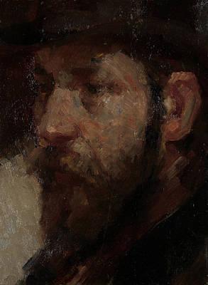 Portrait Of The Art Dealer E.j Art Print by Litz Collection