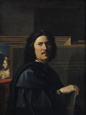 Painter Photograph - Portrait Of The Artist, 1650 Oil On Canvas by Nicolas Poussin