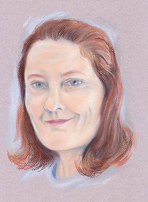 Pastel - Portrait Of The Artist At 49 by MM Anderson