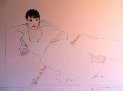 Portrait Of The Artists Wife Art Print