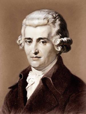 Photograph - Portrait Of The Composer Franz Joseph Haydn by English School