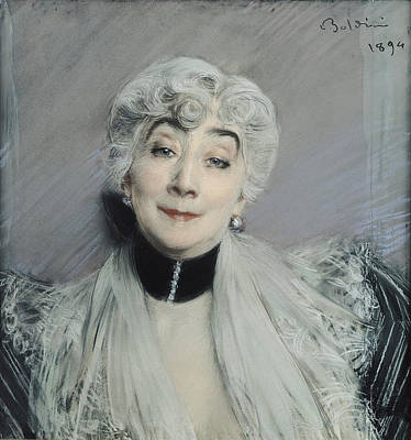 Right Wing Photograph - Portrait Of The Countess De Martel De Janville, Known As Gyp 1850-1932, 1894 by Giovanni Boldini