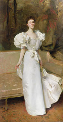 Evening Dress Painting - Portrait Of The Countess Of Clary Aldringen by John Singer Sargent