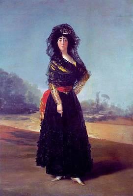 Portrait Of The Duchess Of Alba Art Print by Francisco Goya