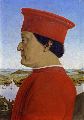 Portrait Of The Duke Of Urbino Federico Da Montefeltro Art Print by Piero della Francesca