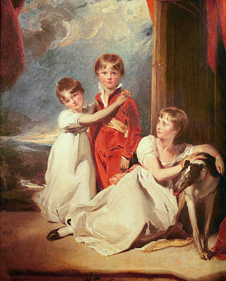 Portrait Of The Fluyder Children, 1805 Oil On Canvas Art Print