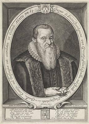 Portrait Of The Jaspar Souter, Jacob Matham Art Print