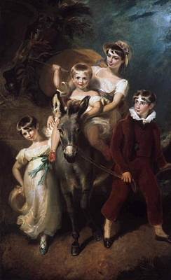 Harlow Painting - Portrait Of The Leader Children by George Henry Harlow