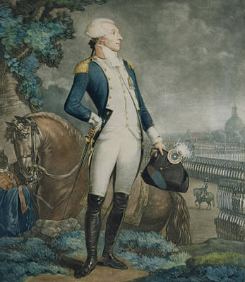 Inspecting Painting - Portrait Of The Marquis De La Fayette by Philibert-Louis Debucourt