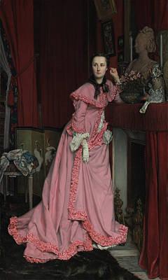 Portrait Of The Marquise De Miramon, Née Art Print by Litz Collection
