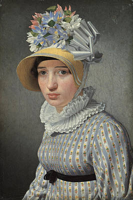 Maddalena Painting - Portrait Of The Model Maddalena Or Anna Maria Uhden by Christoffer Wilhelm Eckersberg