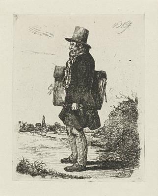 Portfolio Painting - Portrait Of The Painter And Printmaker Hermanus Jan Hendrik by David Van Der Kellen (ii)
