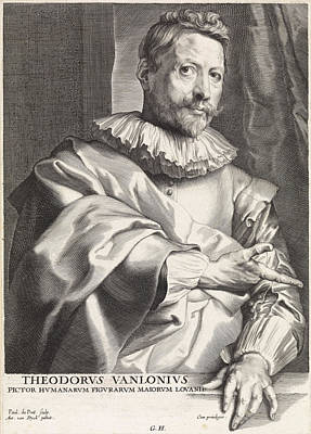 Portrait Of The Painter Theodoor Van Loon Print by Quint Lox