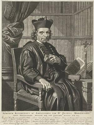 Portrait Of The Pastor Justus Modersohn, Johannes Klopper Art Print