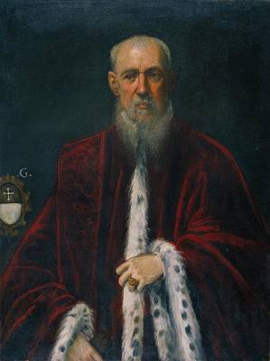 Portrait Of The Procurator Alessandro Gritti Art Print by Tintoretto