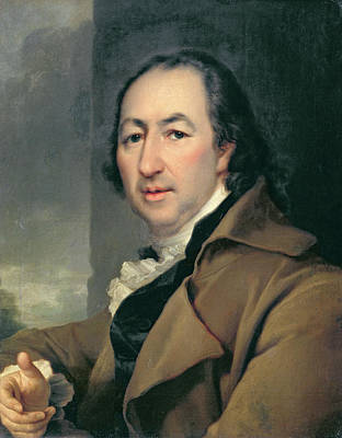 Satirical Painting - Portrait Of The Russian Author Nikolai Ivanovich Novikov, 1797 by Dmitri Grigor'evich Levitsky
