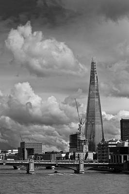 Renzo Piano Photograph - Portrait Of The Shard Black And White Version by Gary Eason