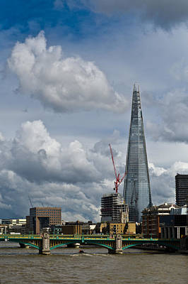 Renzo Piano Photograph - Portrait Of The Shard by Gary Eason
