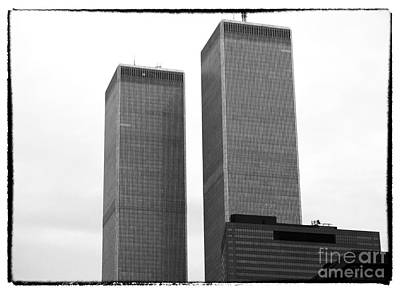Photograph - Portrait Of The Towers 1990s by John Rizzuto