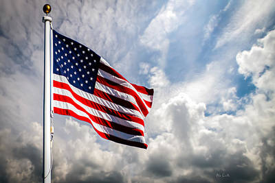 Red White And Blue Photograph - Portrait Of The United States Of America Flag by Bob Orsillo